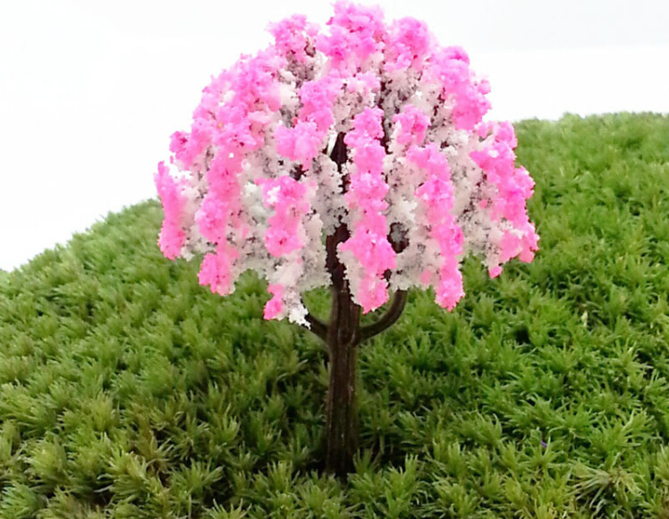 Colorful Artificial Mini Trees Miniatures Plants Fairy Garden Gnomes Moss  Terrariums Ornaments Decorations For Home Room In Figurines U0026 Miniatures  From Home ...