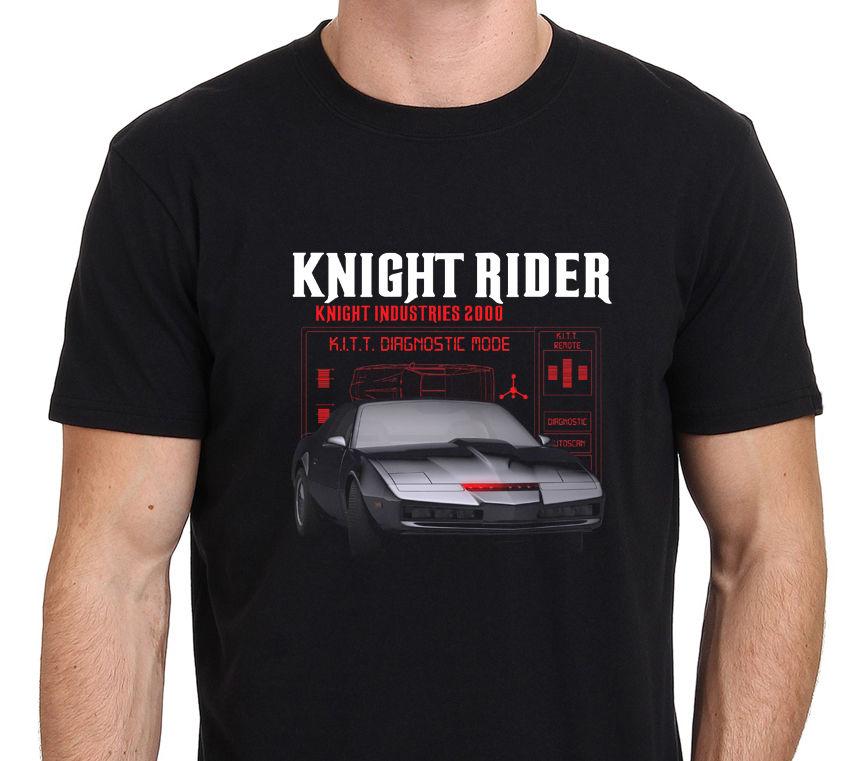 Knight Rider Kitt Retro Tv Hasselhoff Eighties 80S MenS T Shirt Size S To 4Xl