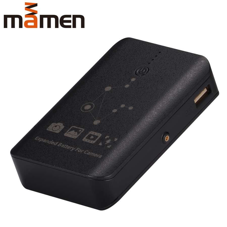Mamen 7800mAh External Camera power Bank Adapter FW50 FZ100 Big Capacity for Sport Camera DSL Camera SmartPhone Fake Batteries-in CCTV Accessories from Security & Protection