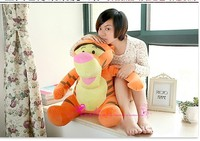 Recheado 75 cm bonito Tigger tigre brinquedo de pelúcia jogar travesseiro boneca dom bens de alta qualidade w5425