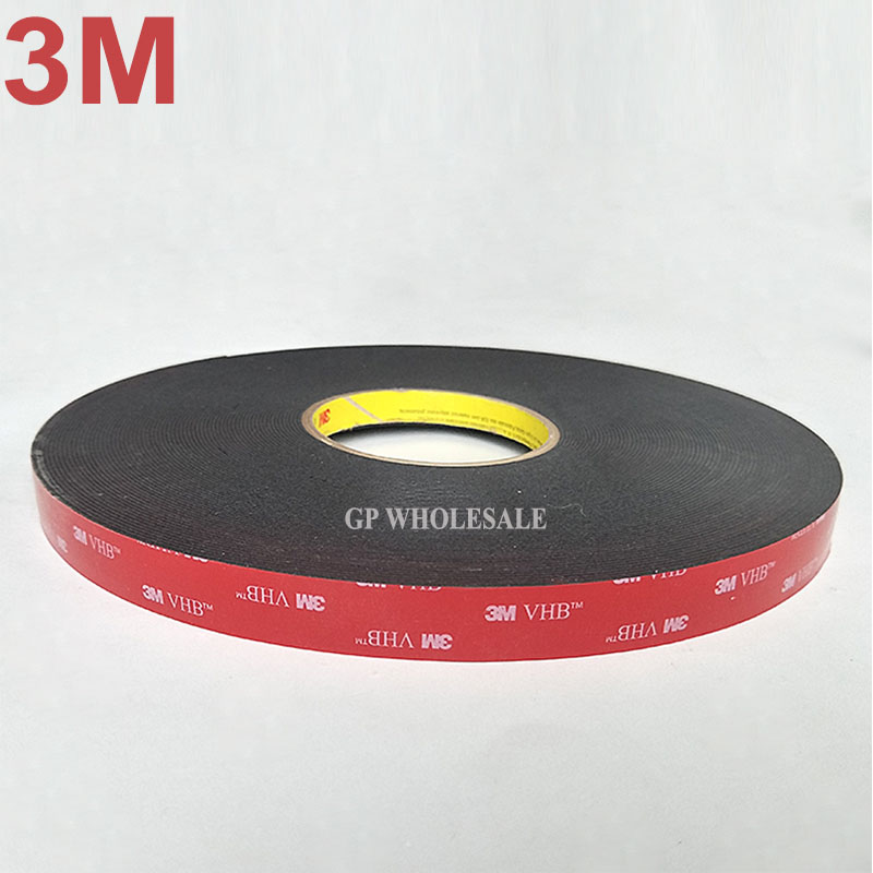 3M VHB 5952 Black Heavy Duty Mounting Tape Double Sided Adhesive Acrylic Foam Tape sticky to Glass,Metal 19mm width x33Meters 1piece 3m vhb 5952 heavy duty double sided adhesive acrylic foam tape black 150mmx100mmx1 1mm