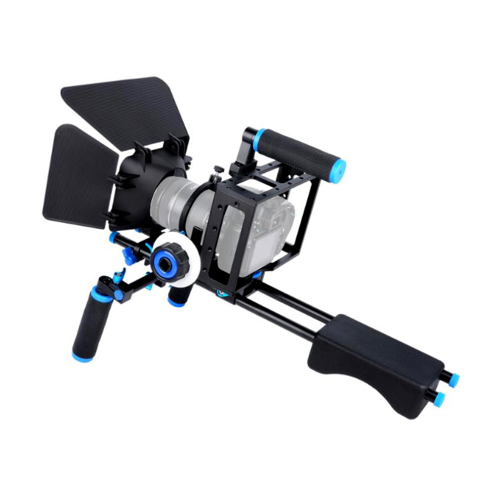 DSLR Rig Camera Cage Kit Shoulder Stabilizer System Video Support Rig For Canon 5D Mark III IV 6D 7D Nikon D7200 Sony A7 GH5 GH4 Yamaha XSR900