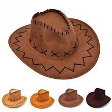 Las chicas occidental vaquero sombrero con ala ancha Punk Correa vaquera  Jazz gorra de sol sombrero para los niños ~ 9d7a1141d5d