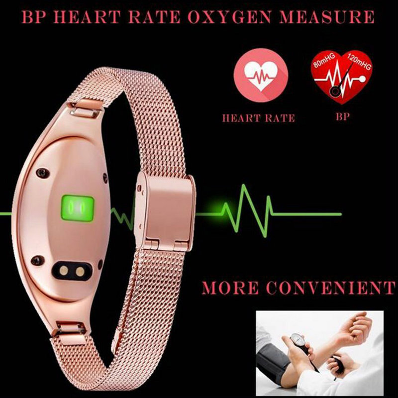 Z18 Red White Black Women Sport Bluetooth Smart Bracelet Fitness Pulsometer Heart Rate Monitor Smartband On Wrist ZIMINGU 17 14