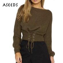 Кружево до трикотажные Тонкий свитер с длинным рукавом Для женщин пуловеры теплый джемпер осень Зимняя коллекция 2017 г. Вязание тянуть роковой Мода