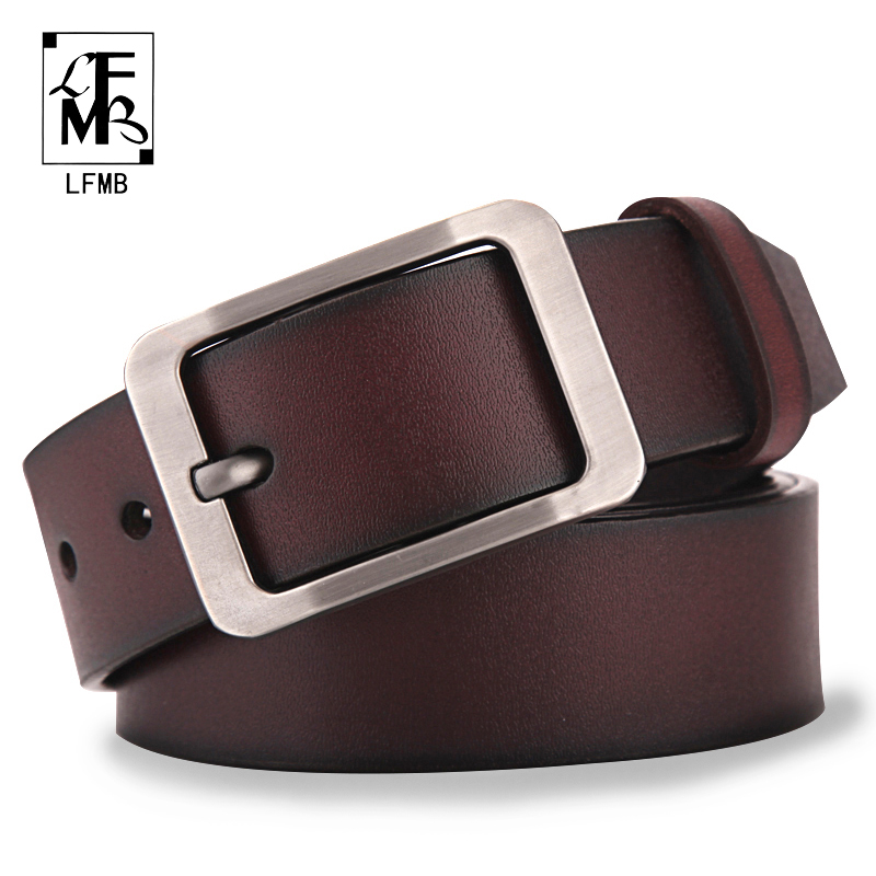 [LFMB]leather Belt Men Male Genuine Leather Strap Male Belt Cowskin Men's Belts  Strap Male Men Belts Cummerbunds Ceinture Homme