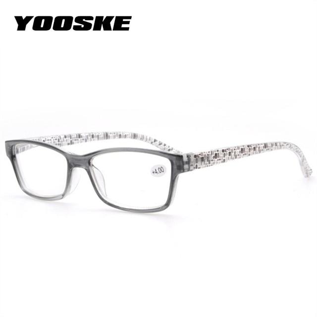 e3ca461cf0 YOOSKE gafas de lectura de los hombres y las mujeres irrompible resina gafas  de colores de