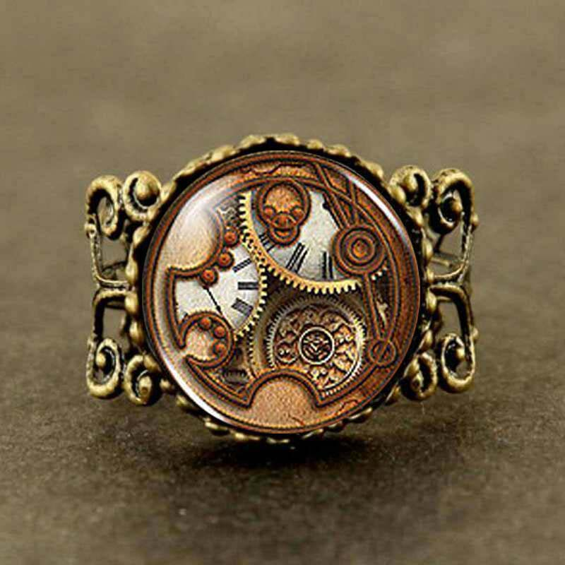 Dr Doctor Who Gallifreyan TIMELORD Men brass silver Ring steampunk Jewelry Gift women new