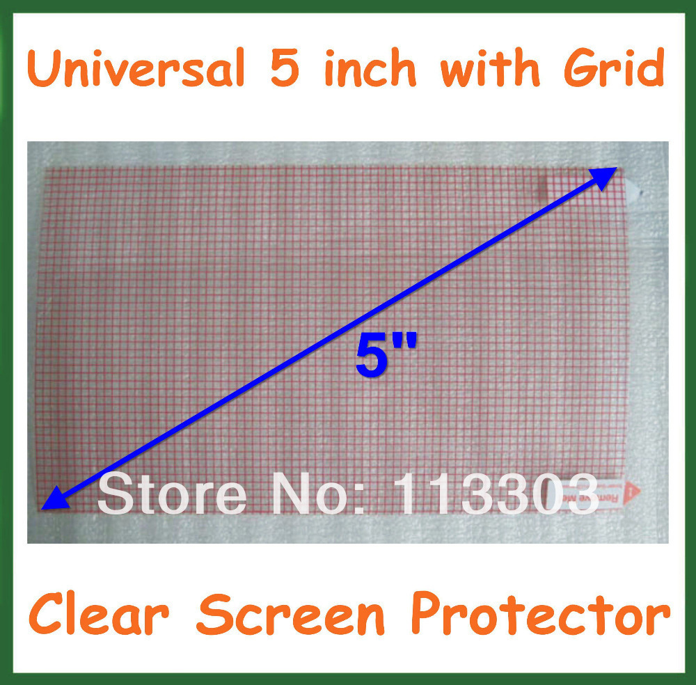 1000pcs Universal 5 inch Clear Screen Protector Protective Film Grid for Tablet PC  GPS MP4 Camera Size 115x65mm