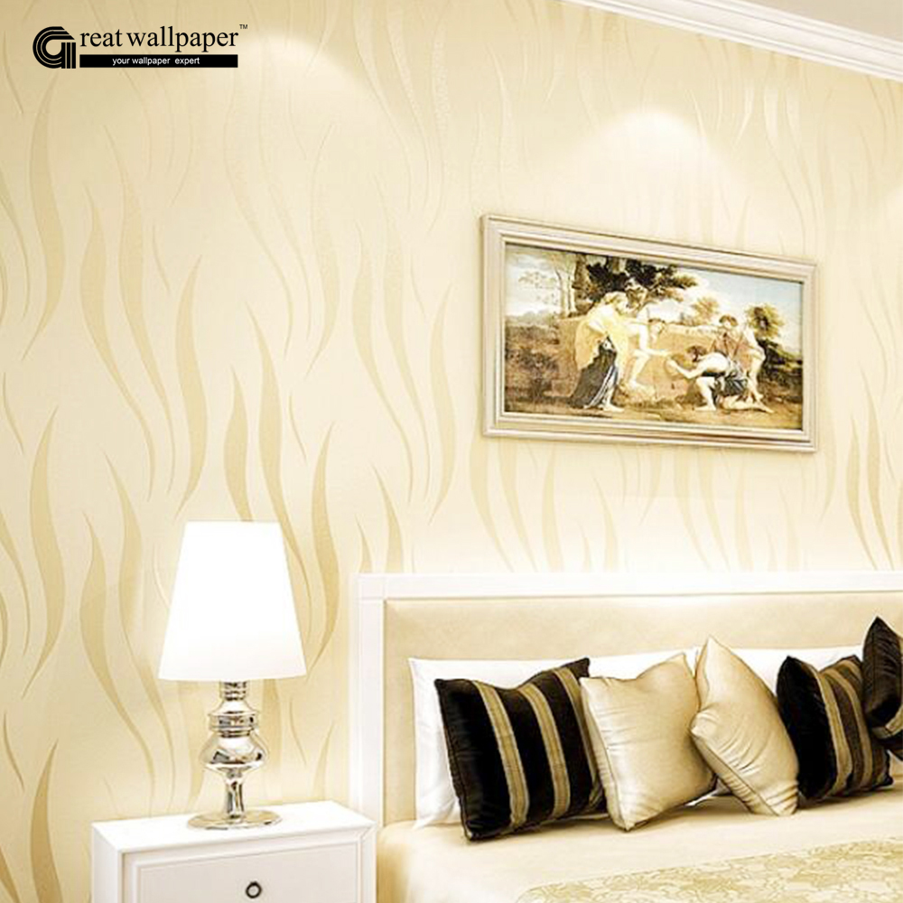 Modern luxury 3d wallpaper damask wall paper roll for for Living room paper