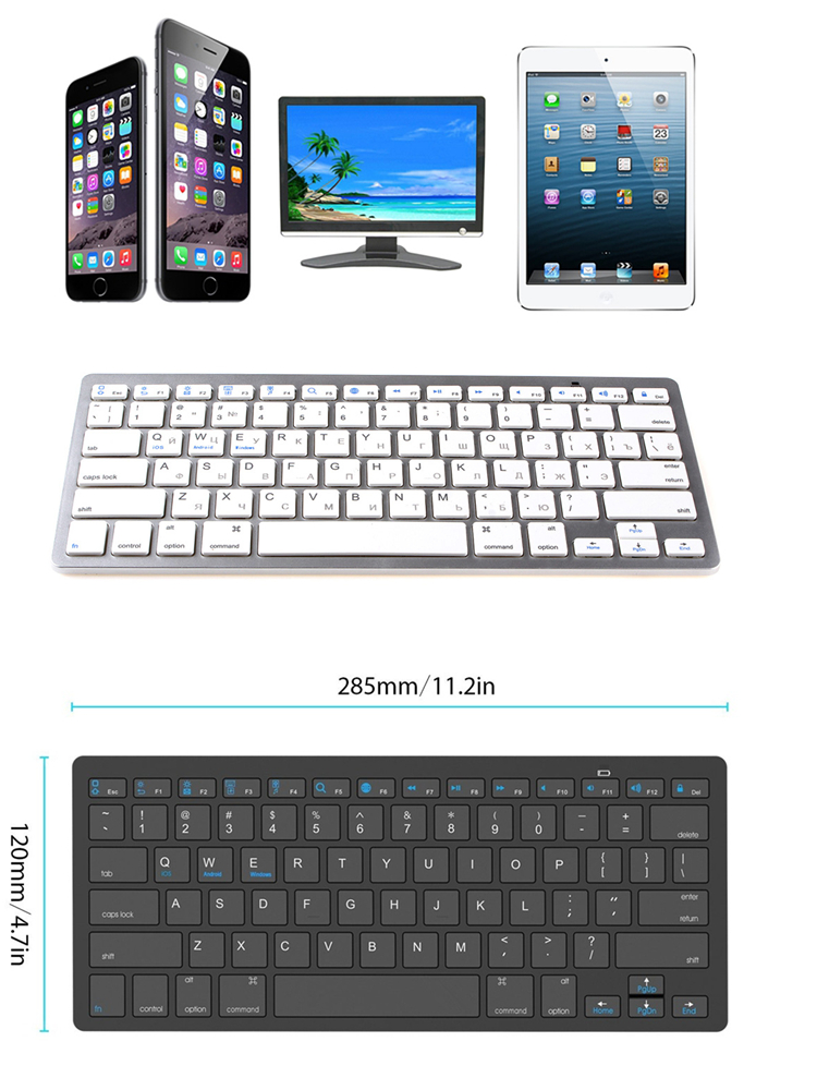 caec1d8e1d4 kemile Russian Language Wireless Bluetooth 3.0 keyboard for Samsung tablet