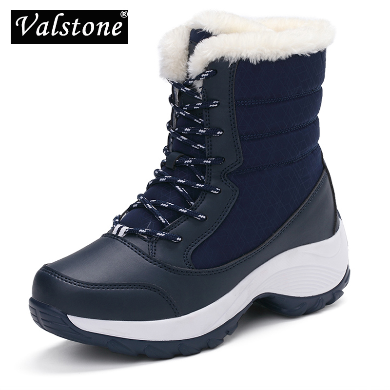 Valstone Womens Winter Shoes Breathable Waterproof Platform Sneakers Warm Snow Boots Anti Skid