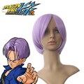 Envío Gratis Dragon Ball Z Trunks Púrpura 40 cm Peluca Cosplay Del Anime