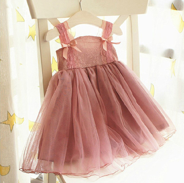 2015 Vintage Shabby Chic Girls Cute Little Girl Dresses Rustic Country Flower Lace Dress Infant