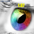 Покрытие 1.67 Высокий Индекс Ультратонких Однофокальными Анти-Излучения и УФ-Изменение Цвета Быстро