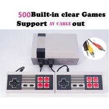 KaRue Clássico Retro Game Player TV Família Infância Embutido 500 Dupla alça de controle Consolas de jogos de Vídeo Pal Ntsc