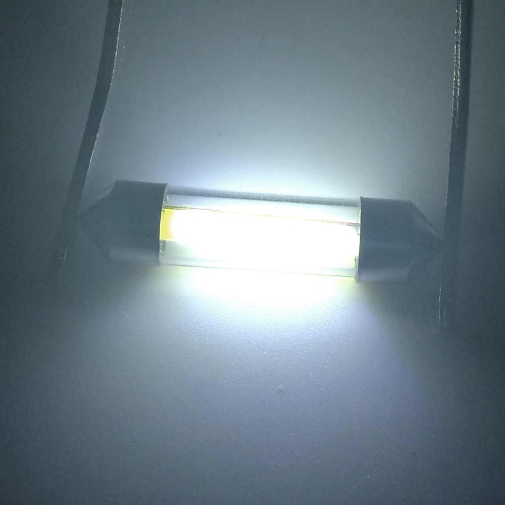 2 pièces haute qualité 31mm 36mm 39mm 41mm C5W C10W 360 degrés led voiture Festoon lumières Auto intérieur dôme lampe lecture ampoule blanc 12V