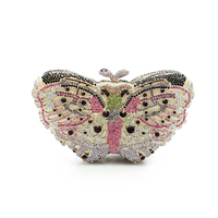 Rhinestone Butterfly Clutch Bag In A Bags For Womens Purses Butterfly Clutch Chain Purse Box Clutch Evening Bags(8636A G)