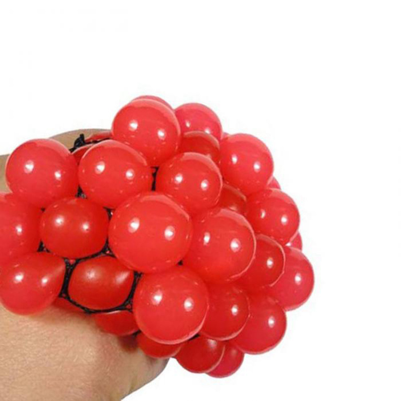 New Anti Stress Ball Novelty Fun Splat Grape Venting Balls Squeeze Stress Reliever Toy Funny Gadgets Gift