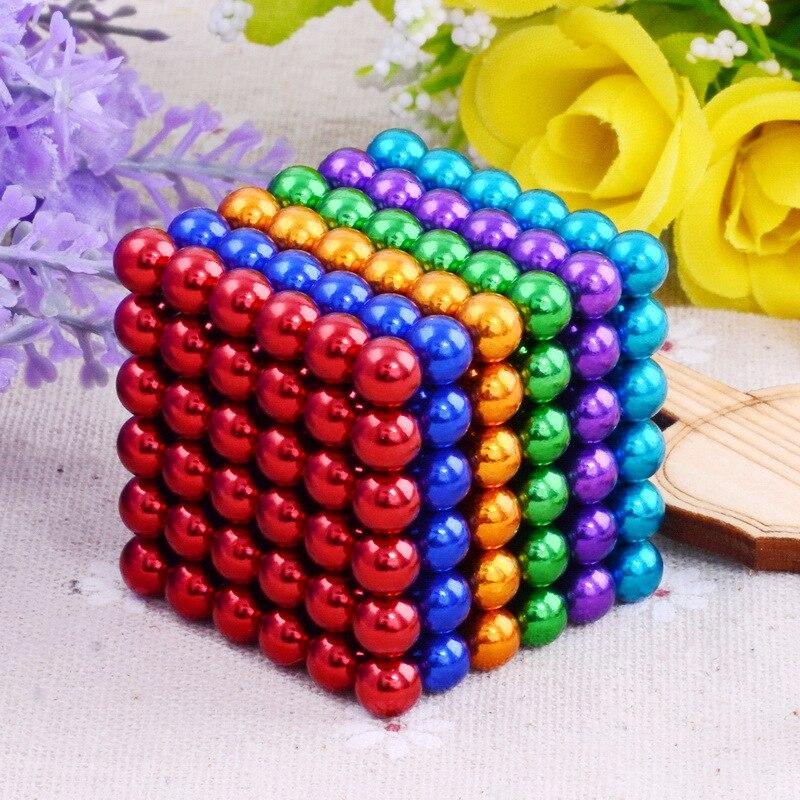 216 pz 5 MM Neo Cubo Magnetico Cubo Magico Palle Blocco Giocattoli Creativi Puzzle Cube Istruzione DIY Neodimio Sfere Perline magnete