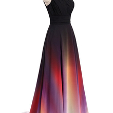 f7731f4472d27 Bealegantom Fashion One Shoulder Ombre Prom Dresses 2018 With Chiffon Plus  Size Evening Party Gowns Vestido
