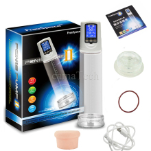 Male Enhancer Electric Penis Pump USB Rechargeable LCD Screen Strong Automatic Cock Erection Enlarger Enlargement Vacuum Sleeve