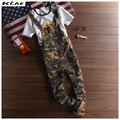 New Mens Camo Bib Overalls Fashion Slim Ripped Skinny Overalls Jeans Man Casual Blue Denim Jumpsuits Jeans Man Suspender Pants