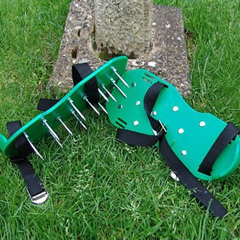 Prostormer Green Lawn Aerator Sandals LAWN AERATOR SHOES Garden Cultivator  With Metal Buttons Funny Garden Tools Shoes AMH161 In Garden Cultivator  From ...
