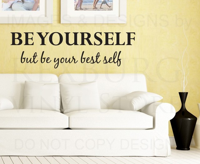 Wall Decal Sticker Quote Vinyl Art Lettering Decorative Be Your Best ...