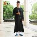 Roupas de Algodão dos homens árabes & linho thobe árabe Bordado T pescoço kaftan vestuário islâmico para homens mens manga longa Por Atacado 122901