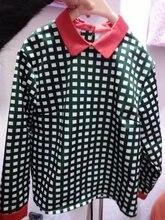 spring new fashion slim temperament hit color plaid shirt women, thin mixed womens