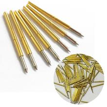 Hot 100 sztuk wiosna sonda testowa Pogo Pin P75-B1 Dia 1 02mm 100g Cusp włócznia pozłacane na narzędzia testowe tanie tanio Inpelanyu Obróbka metali other GJ0651-01 as picture shows copper