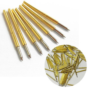 Hot 100pcs Spring Test Probe Pogo Pin P75-B1 Dia 1.02mm 100g Cusp Spear Gold Plated For Test Tools(China)