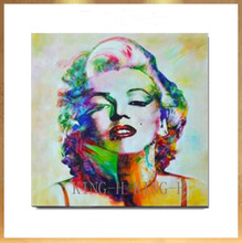 Hand-painted oil painting to customize the image of star Marilyn Monroe photos decorated hall hotel bedroom