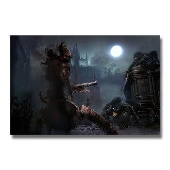 Плакат гобелен bloodborne шелк вариант 3