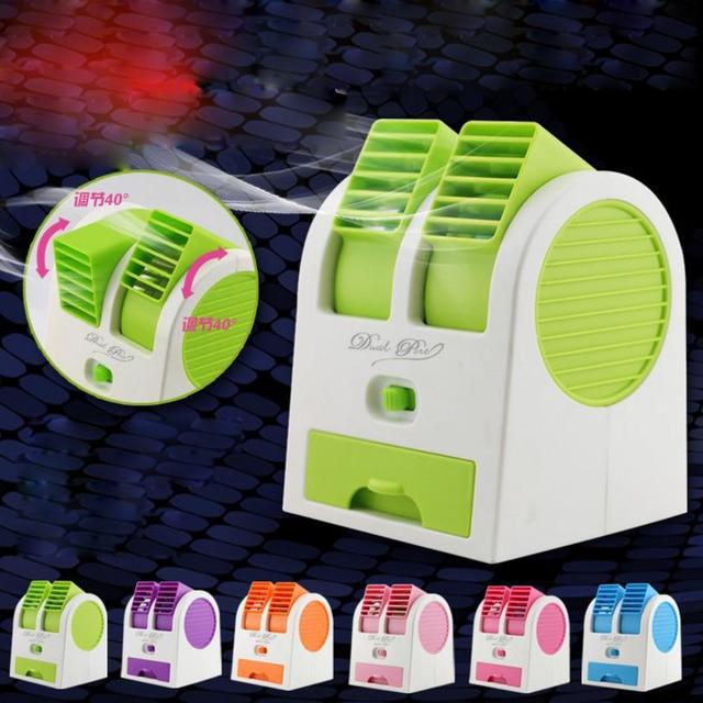 Hot Tragbaren USB Mini Kleinen Ventilator Kühl Desktop USB Batterie Zwei  Way Blattloser Ventilator Klimaanlage