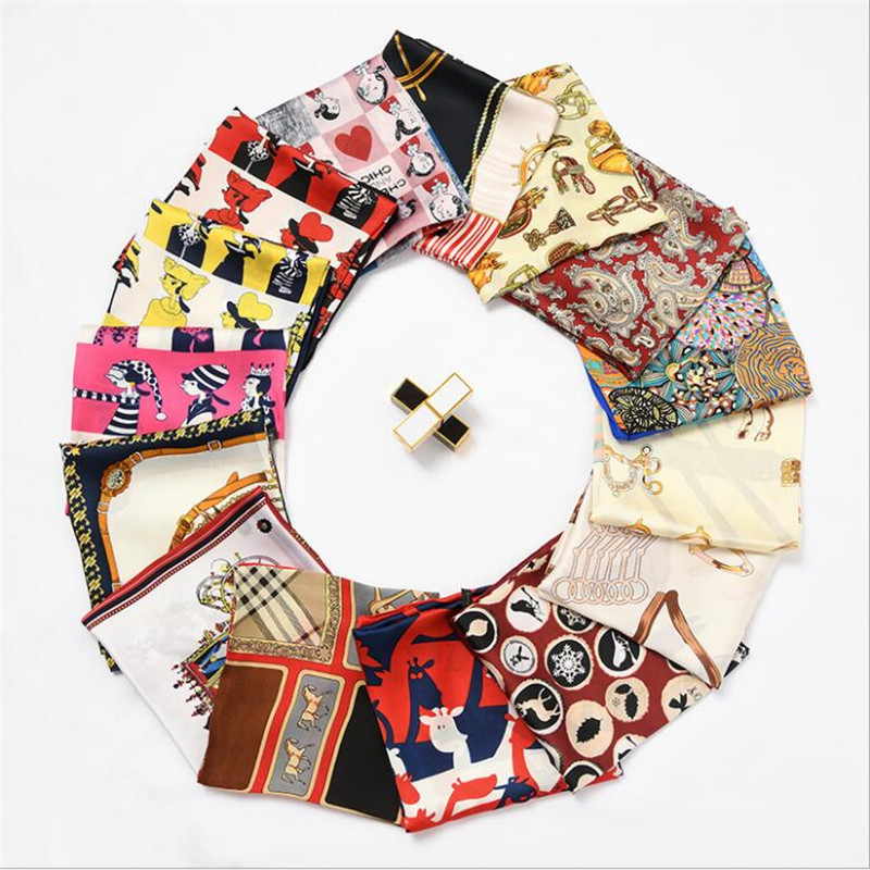 New Women   Scarf     Wrap   Spring Autumn Animal Plaid Striped patchwork Print Head Neck Hair Tie Band Neckerchief Small Square   Scarves