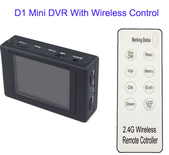 Mobile Surveillance Portable Body Worn DVR Video Recorder Camera
