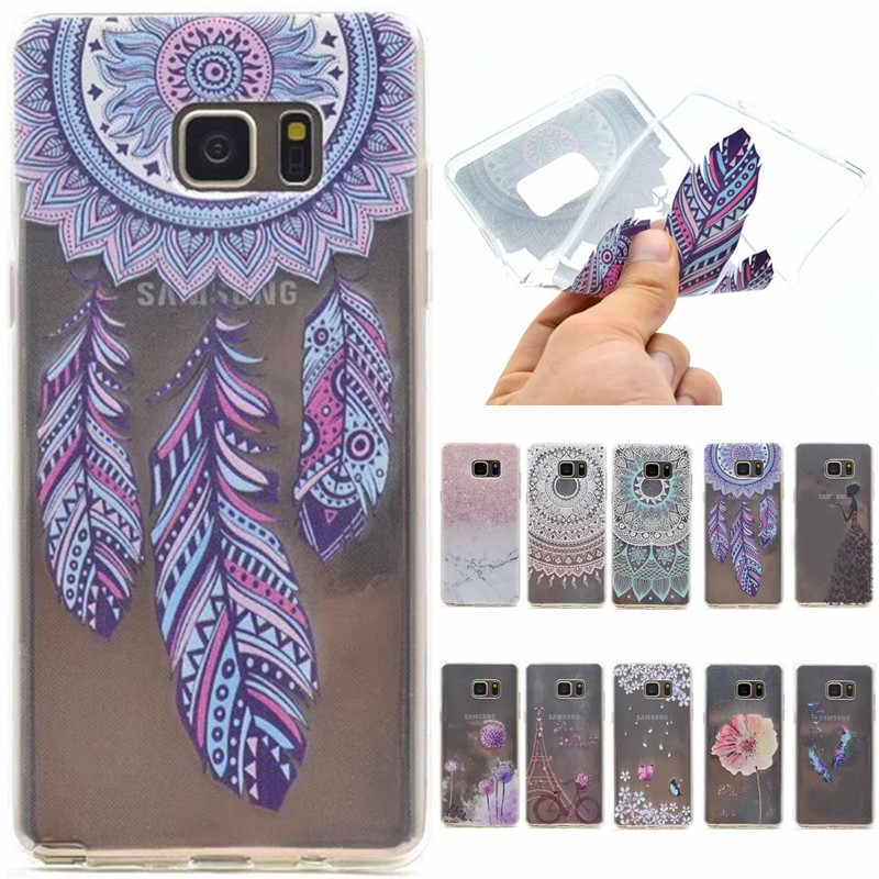Cute Cartoon Parigi Torre Molle Della Farfalla TPU Fundas Caso Per Samsung Galaxy S5 S5 Mini Bordo S7 s7 Note5 Note 5 Copertina
