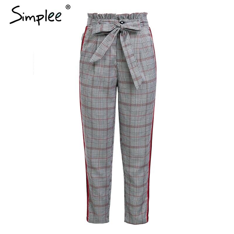 Women Plaid Long Harem Pants/></p> <p align=