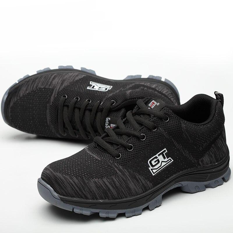 Prova Pé Sapatos 01 Trabalho Size 2018 Aço Ar Malha Homens 02 Construção À Respirável Industrial Segurança Ao Livre Do De Punção Masculinos Dedo 03 Plus amp; 10Pqgxg