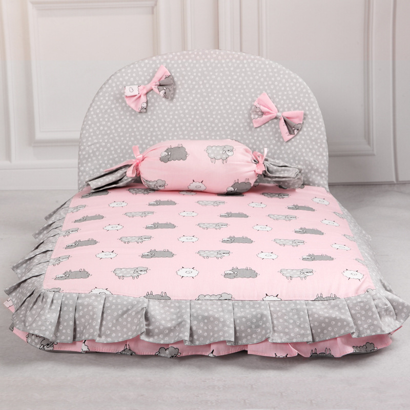 Dog Lovely Bed Comfortable Warm Pet House Print Fashion Cushion for pet Sofa Kennel Top Quality Puppy Mat Pad Bed 7