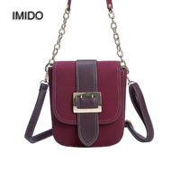 IMIDO 2018 Women Messenger Bags Cross Body Designer Handbags High Quality Matte Shoulder Bag Chain Strap