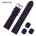 Wholesales Silicone Watch band 18mm 20mm 22mm 24mm for military watch Black or Blue color