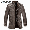 2016 Leather Jackets Slim Men Coats Winter Motorcycle Leather Jacket Men's Parka Mens Fur Coat Distressed PU Jacket
