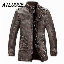 2016 Leather Jackets Slim Men Coats Winter Motorcycle Leather Jacket Men's Parka Mens Fur Coat Distressed PU Jacket
