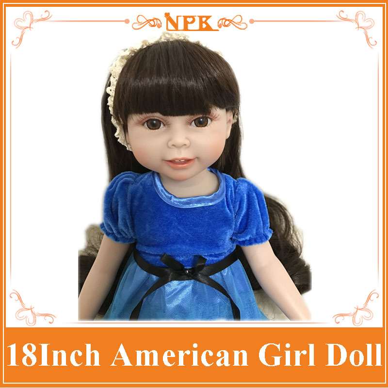 New Arrival NPK 18inch Full Vinyl Silicone Reborn Doll Realistic American Girl Doll Adorable Baby Toys With Fashion Dress&Shoes gipfel лопатка sinty 25 см