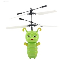 Induction Fly Toys Green caterpillar Remote Control RC Helicopter Flying Quadcopter Drone  Doll Best Gifts Mjdtoys  Free shippin