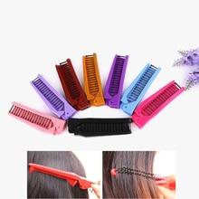 купить 1Pcs folding Portable Comb multi-function Magic Handle Tangle Detangling Knot Hair Brush Comb Sharon massage hairdressing Tool по цене 84.48 рублей