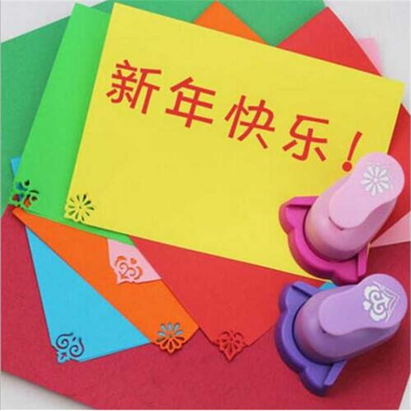 Gaufrage bricolage coin papier impression carte Cutter Scrapbook Shaper grand dispositif de gaufrage perforateur enfants fait main artisanat cadeau YH01